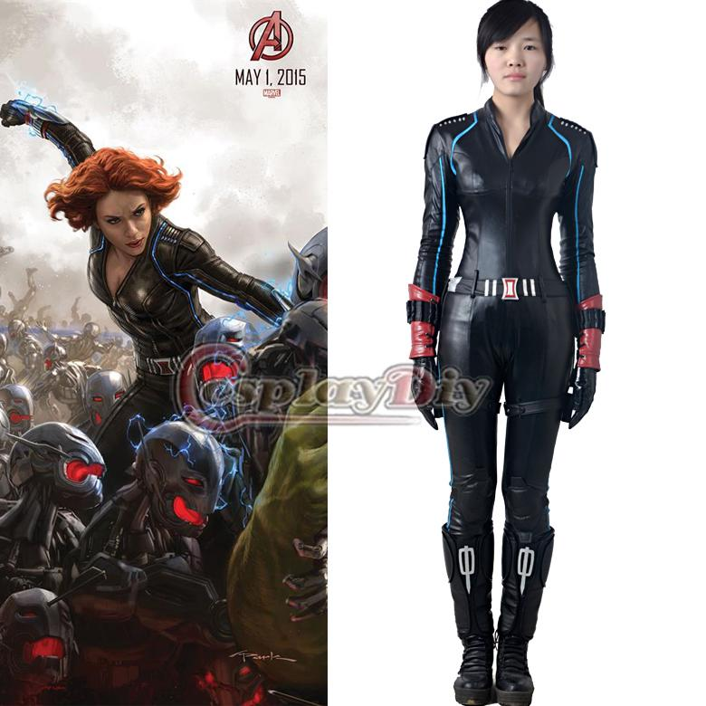 2015 New The Avengers 2 Age Of Ultron Black Widow Costume Outfit Natasha Romanoff Tight Sexy Jumpsuit Halloween Cosplay Costume Canada 2019 From