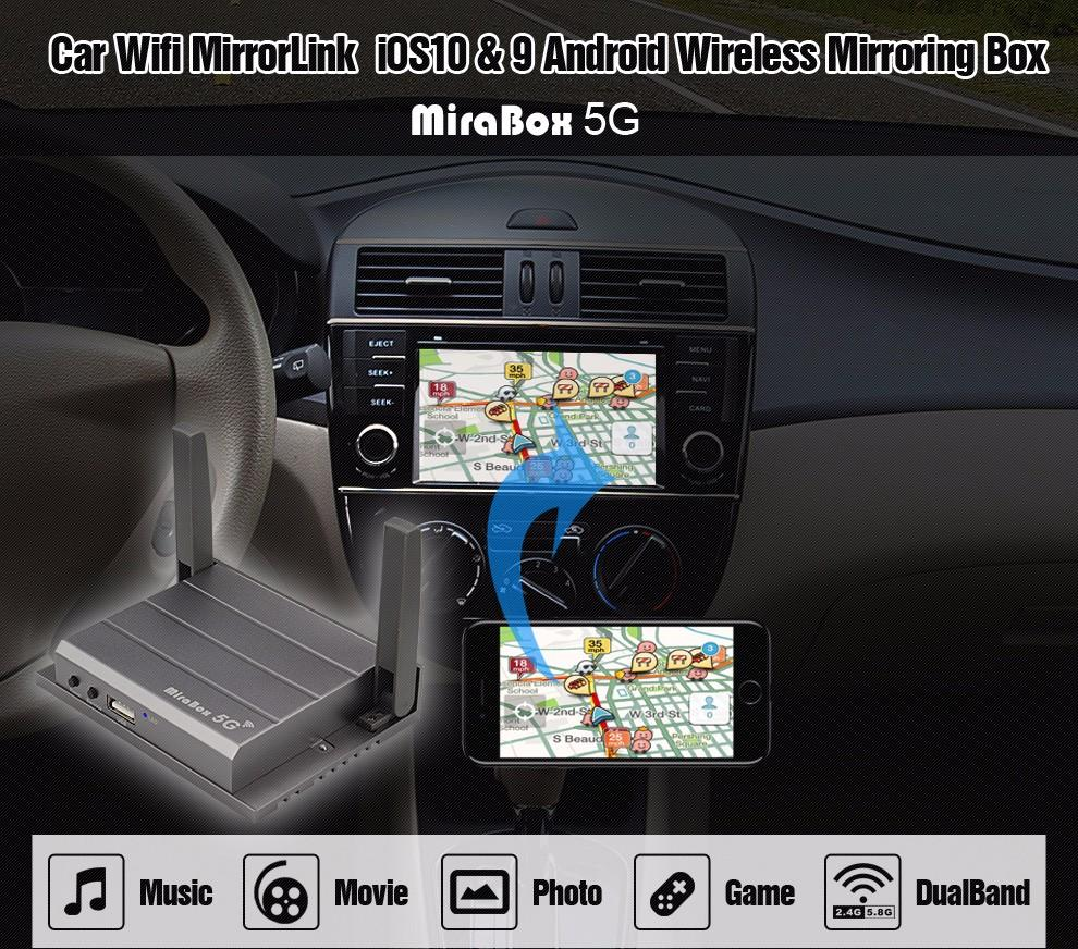 Mirabox 5G Car wifi Mirrorlink Box Support Youtube Mirroring For iOS10 Phone For Android Phone Car&Home Mirrorlink Box With HDMI (1)