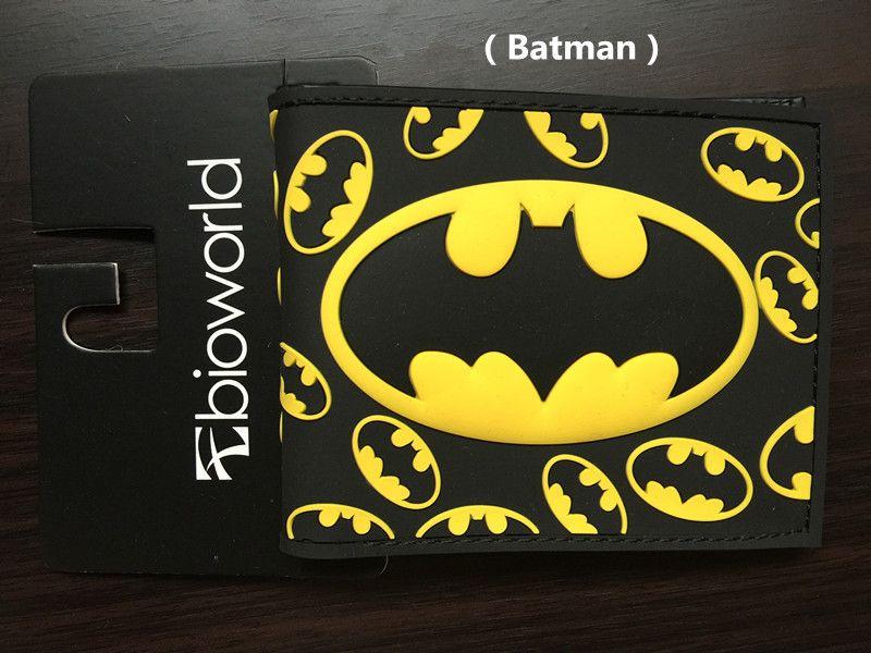 Marvel Batman Wallet DC Comics Purse Creative Cartoon Design Man Short Wallet bank cards bag Coin Purse Change Carteira