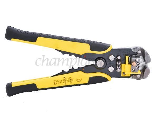 Amarelo 3 em 1 Automatic Cable Stripper Fio alicate de friso Auto Ajustando Crimper Terminal Cortador Ferramenta 25