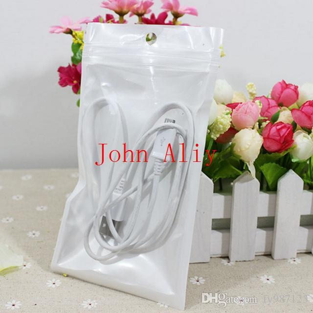 Sacchetto del pacchetto utile Dimensioni 10 * 18cm, trasparente + Perla Bianco Sacchetto di plastica, Perle Zip Sacchetto di plastica Sacchetto di plastica, Sacchetto di plastica, Pacchetto per regali Spedizione gratuita