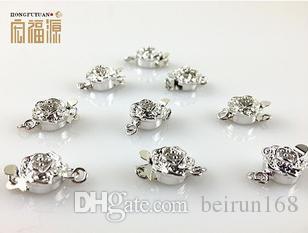 Accessori liberi della perla del commercio all'ingrosso di trasporto Hong fu yuan fibbia HFY-37 del braccialetto della collana della perla a forma di prugna