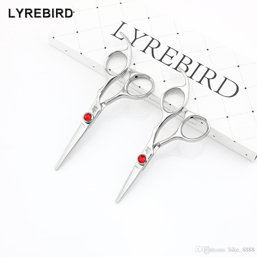 Lyrebird HIGH CLASS cheveux 440C Japon ciseaux à cheveux 4.5 INCH ou 5 bonne INCH Big pierre rouge qualité NOUVEAU