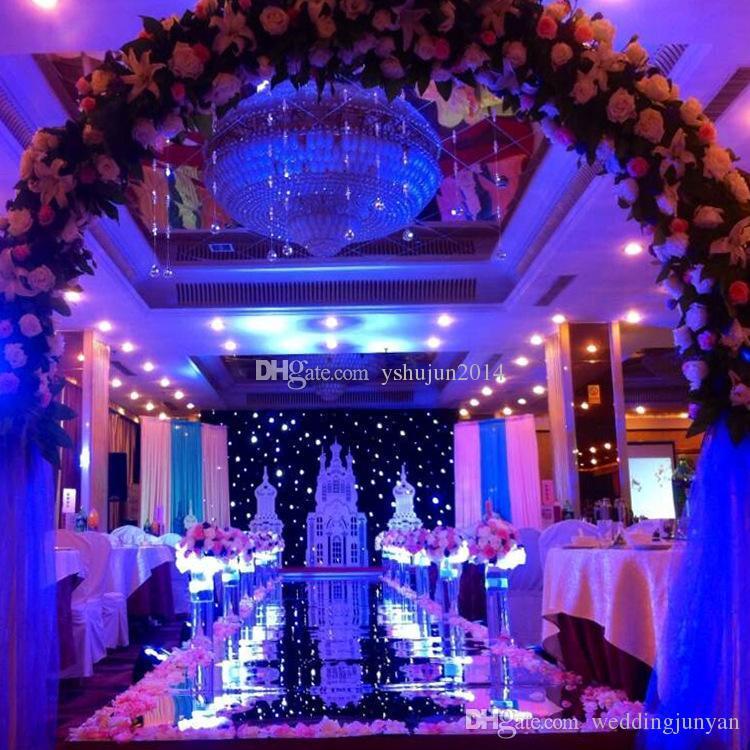 2015 New wedding carpet Aisle Runner Gold Silver Double Side Design T Station Decoration Wedding Favors Carpets 0758A