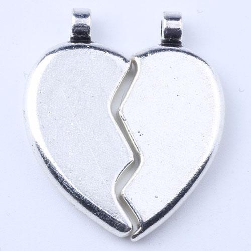 10 pcs / lot nouvelle mode argent / cuivre rétro s'asseoir amour bricolage bijoux pendentif fit collier charme 1594 fglc