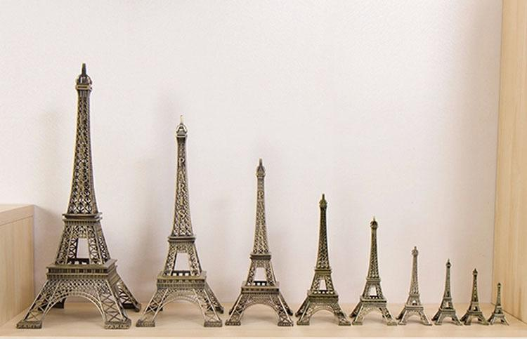 18 cm Torre Eiffel Artículos de Decoración Del Hogar Modelo Metálico Vintage Hierro Creativo Decorativo Moderno Foto Artificial Prop Artesanía