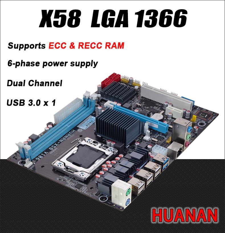 Intel planform masaüstü anakart Için Freeshipping yeni X58 kurulu LGA 1366 destek REG ECC sunucu belleği Tüm katı panoları x 58 16 GB 8 GB