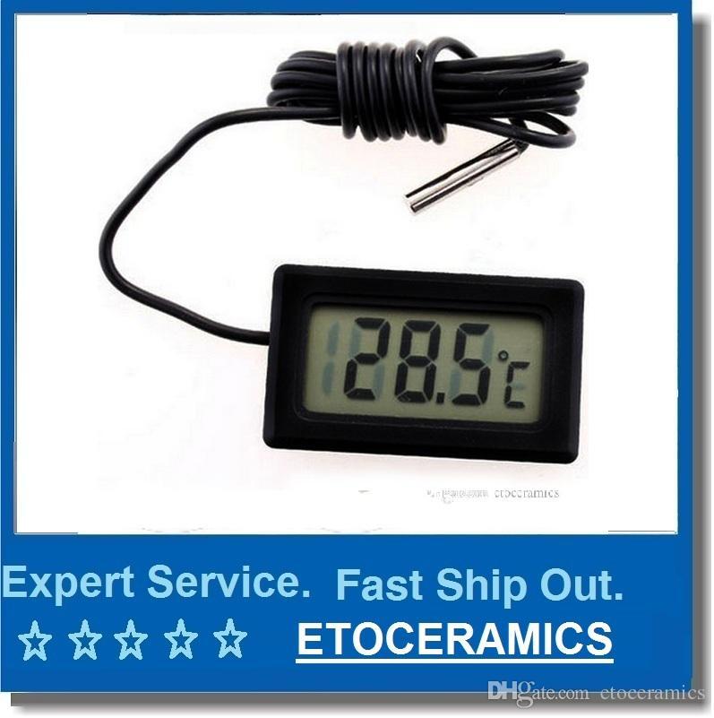 Mini thermomètre petit numérique LCD Combo capteur filaire thermomètre d'aquarium congélateur thermomètre -50 ~ 110C contrôleur GT noir