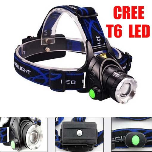 Top Quality 2000 Lumens Headlamp CREE XM-L T6 LED Headlight For 18650 Head Lamp Torch LED Flashlight Head Light(V9 T6) + Free Shipping