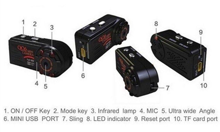 New arrival Smallest Full HD 1080P 720P Mini DV DVR Camera Camcorder IR Night Vision Motion Detect DVR QQ6 MINI DV (1)
