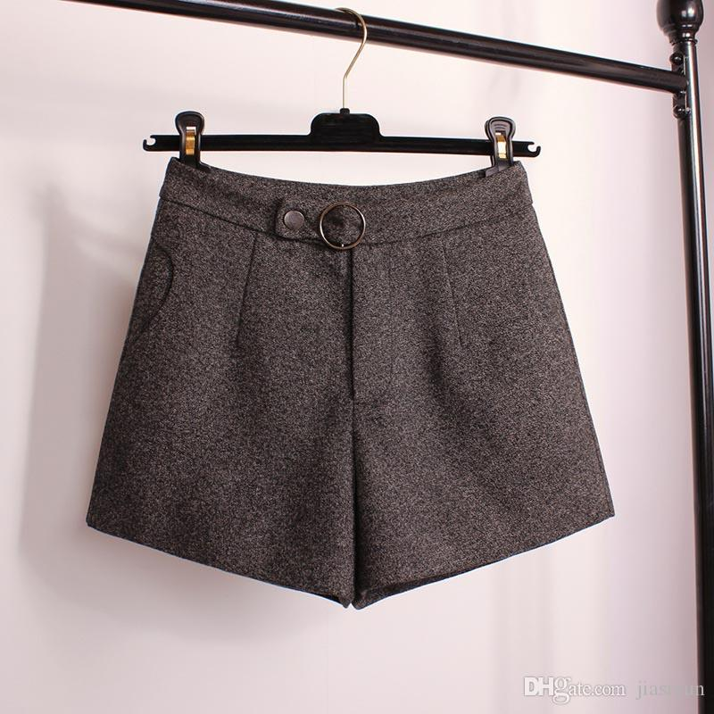design di qualità 59786 0395d Acquista Pantaloncini Invernali Le Donne Stivali Di Lana Pantaloncini  Colori Vivaci Zip Up Pantaloncini Larghi Con Tasche Da Donna Casual Wear A  ...