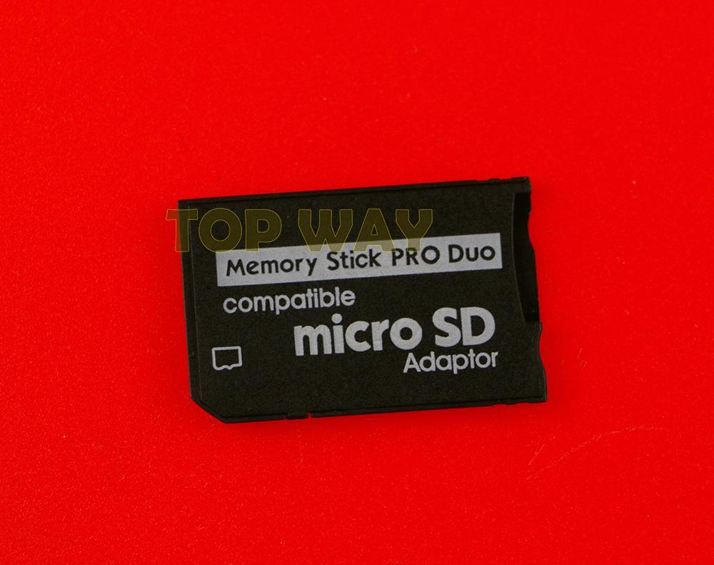 Micro SD TF para Memory Stick Pro Duo MS compatível Para PSP 1000 2000 3000 Card Slot Adapter Converter