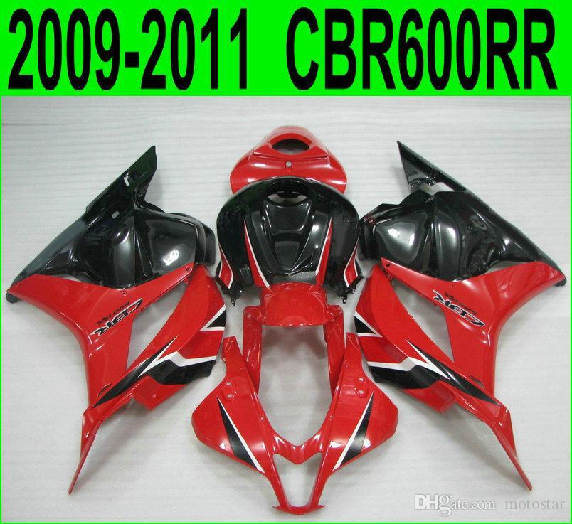 injection molding red black fairings for Honda CBR600RR fairing kit 2009 2010 2011 bodywork CBR 600 RR 09 10 11 VF56