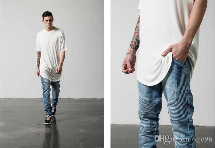 Wholesale Mens Skinny Jeans Men 2016 Runway Distressed Slim ...