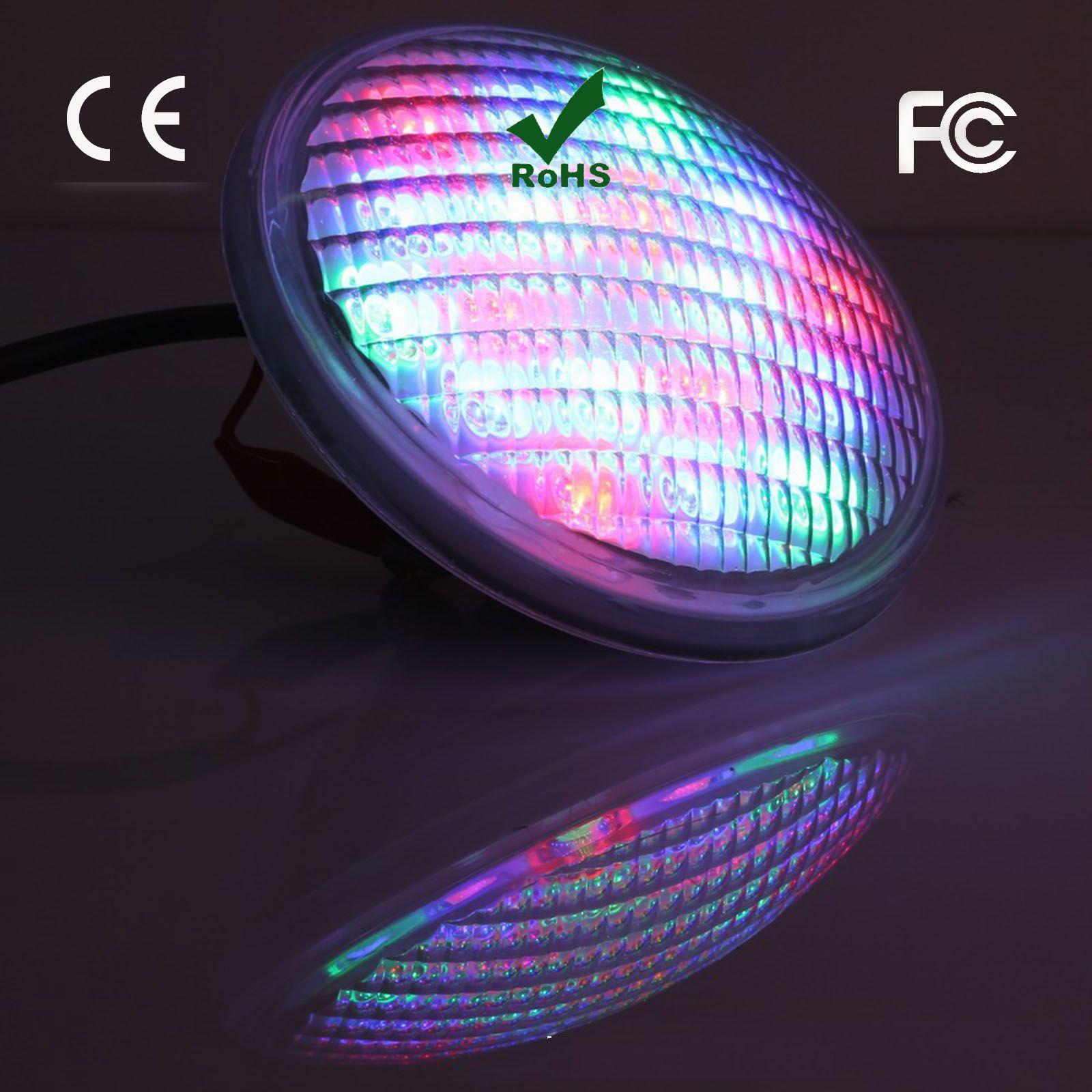 Luce di alta potenza 54W LED acciaio inossidabile 304 LED Luce per piscina LED luce subacquea IP 68 PAR56 12V RGB proiettore