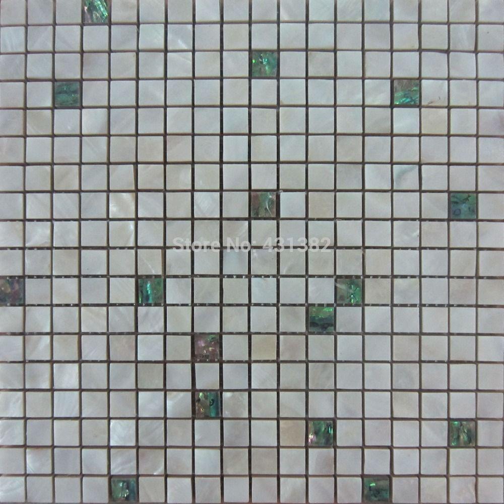 Azulejos de nácar; azulejos de mosaico verde con azulejo blanco perla mezclados, azulejos backsplash de cocina, azulejos de cerámica para baño