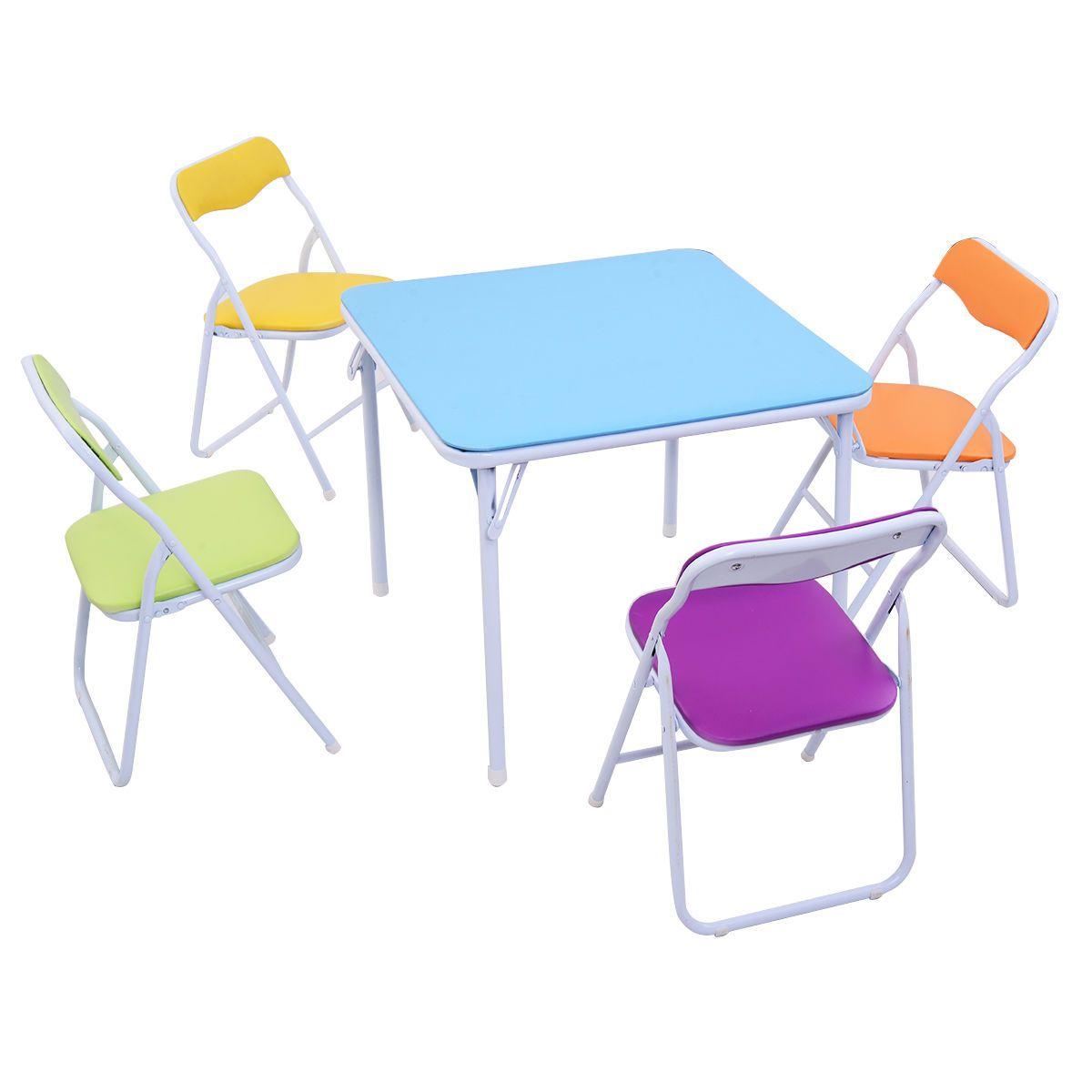 Tavoli Pieghevoli Per Bambini.Acquista Set Di Sedie Da Tavolo Pieghevole Bambini 5 Pezzi Mobili