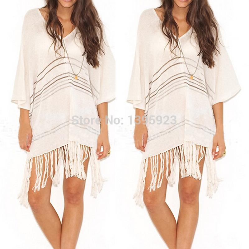 عالية الجودة 2015 المرأة الأنيقة عارضة نصف كم شرابة مثير بيكيني ملابس الشاطئ قمم اللباس الصلبة التستر الساخن