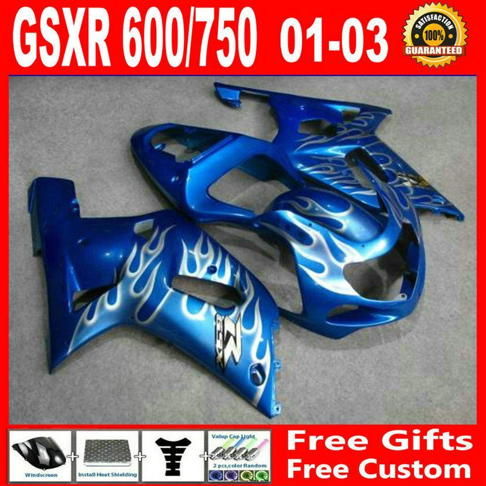 Bodykits personnalisés pour Suzuki GSXR 600 750 00 01 02 03 Kit de carénage GSXR600 GSXR750 2001 2002 2003 Kits de carénage