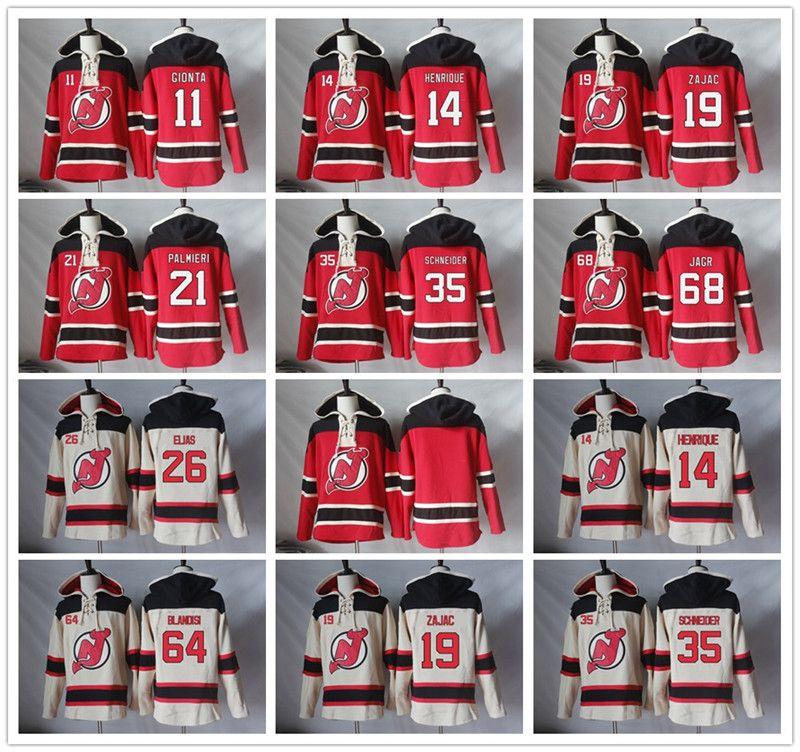 New Jersey Devils Hoodie Blank 11 Stephen Gionta 14 Adam Henrique 19 Travis Zajac 21 Kyle Palmieri Hockey Jerseys Hoodies Sweatshirts