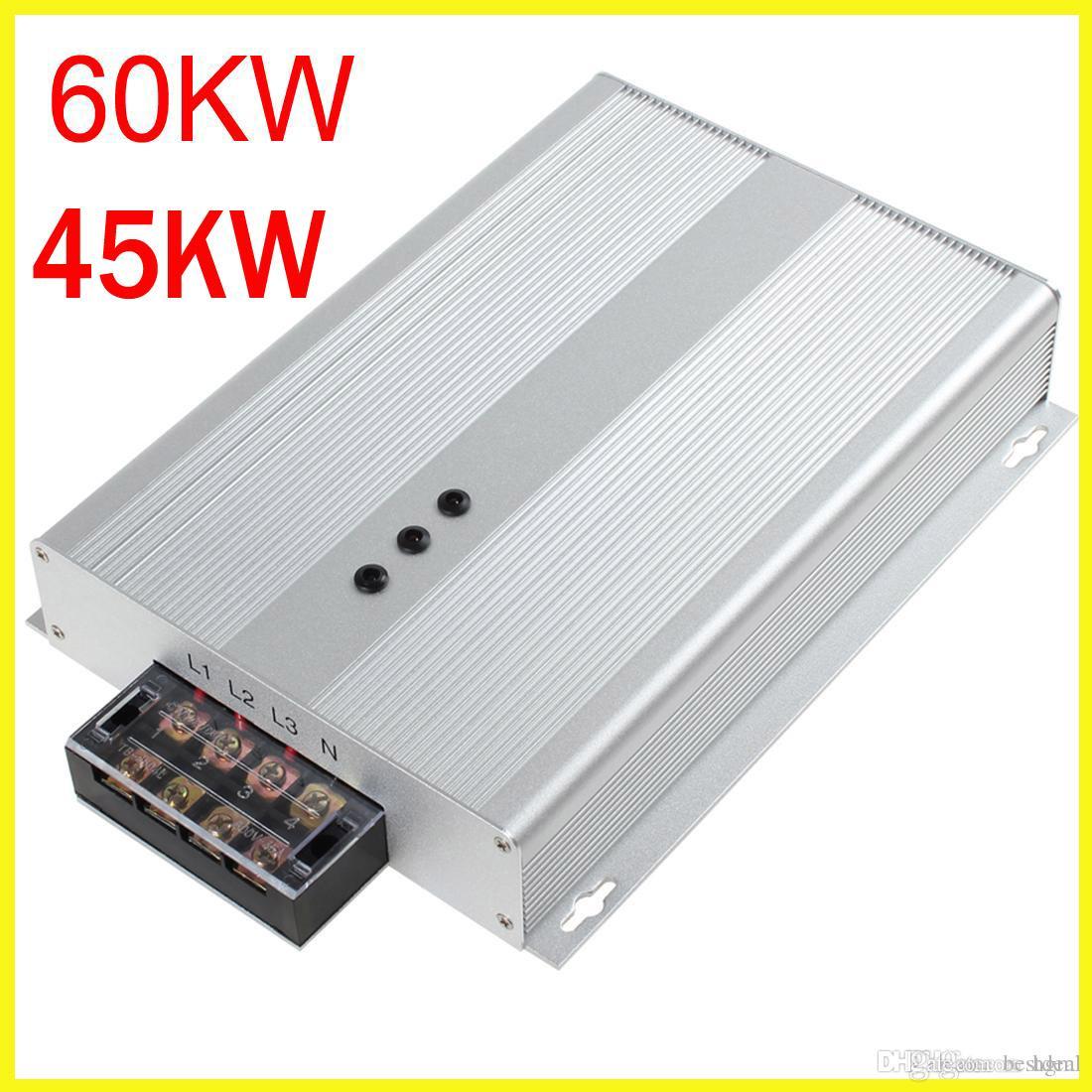 US EU UK Stecker 45KW / 60KW Intelliworks Energy Savers Energiesparmodus Dreiphasen-Energiesparbox AC 90-400V Energieeinsparung 35% EGS1B0