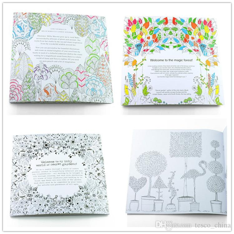 4 Design Secret Garden An Inky Treasure Hunt And Coloring Book Children Adult Relieve Stress Kill