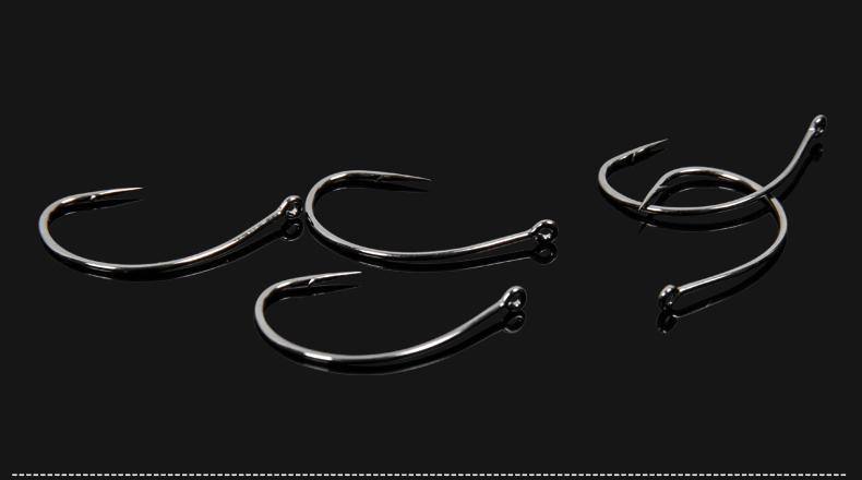 Outdoors 40 Pieces /Lot Trulinoya 2015 New Top Quality 1 #Black Nickel Alloy Bkk Wacky Fish Hook Fishing Soft Lure Hooks