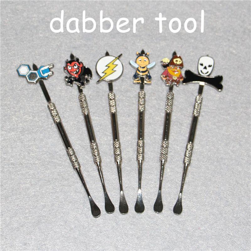 120 мм Золото из нержавеющей стали Dabber Инструмент Баночки Dab Воск Контейнер Инструменты Воск Dabber Инструменты Сухая Трава испаритель ручка ручка Dabber инструмент