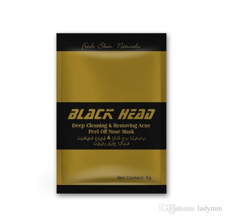 500 Pcs New Gold Facial Minéraux Conk Nez Comédons Nettoyage Profond Enlever L'acné Peel Off Nez masque Noir Tête EX Pores Bande Anglais emballage