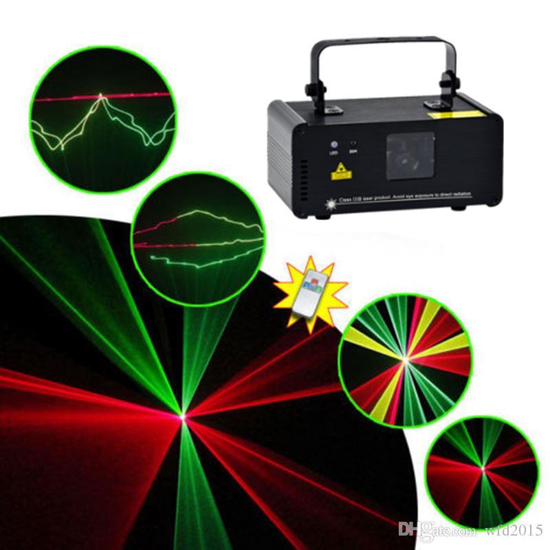 Mini 200 mw Vermelho Verde Misturado Amarelo DMX 512 Remoto Sound Projetor Stage Equipment Luz DJ KTV Show de Feriado Iluminação A Laser DM-RGY200