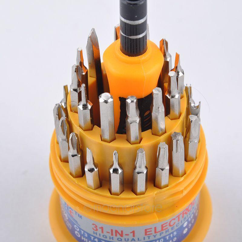 31 em 1 chave de fenda set substituível em linha reta chave de fenda set insert bits