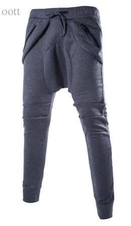 Al por mayor-Nuevo Mens Casual Jogger Dance Sportwear Baggy Harem Pantalones hip hop Dance Slacks Pantalones hombre Sweatpants 3 Color envío gratis
