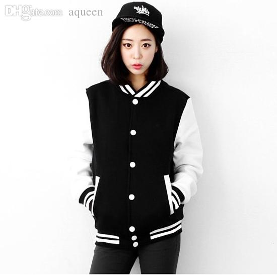 Baseball Jacket Dropshipping women jackets free shipping Wholesale high quality Varsity style the latest fashion women cloth