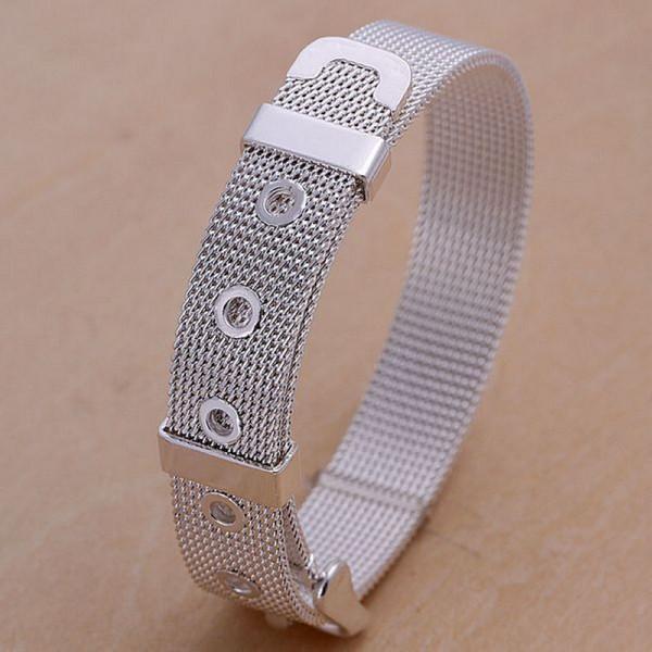 حار بيع أفضل هدية 925 الفضة صلة صافي حزام سوار DFMCH006، العلامة التجارية الجديدة أزياء 925 الفضة الاسترليني مطلي سلسلة أساور درجة عالية