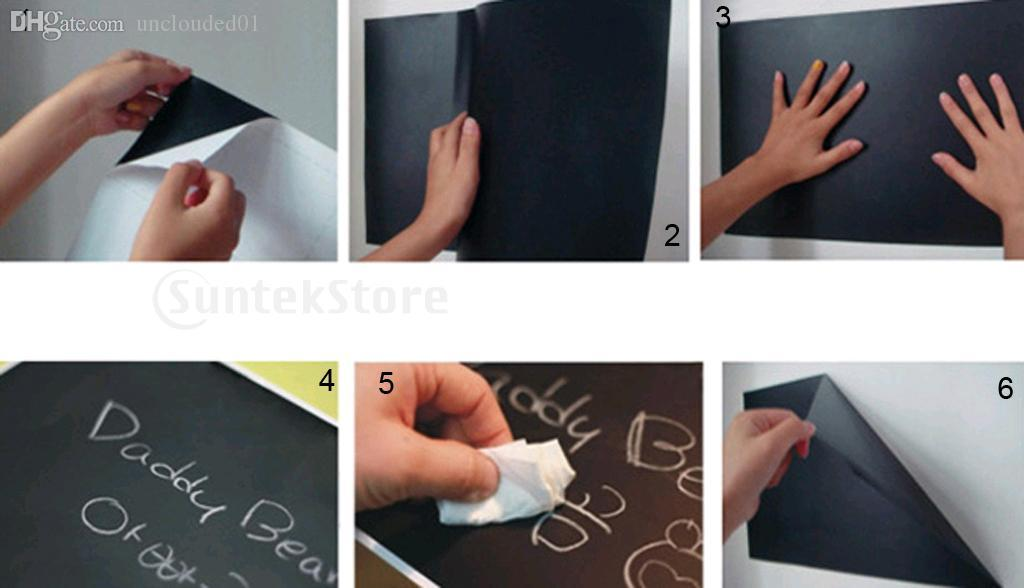 Wholesale-New Arrivals 2015 17.7 x 78.7Inch Whiteboard White Board Wall Sticker with 1pcs Free Pen Free Shipping