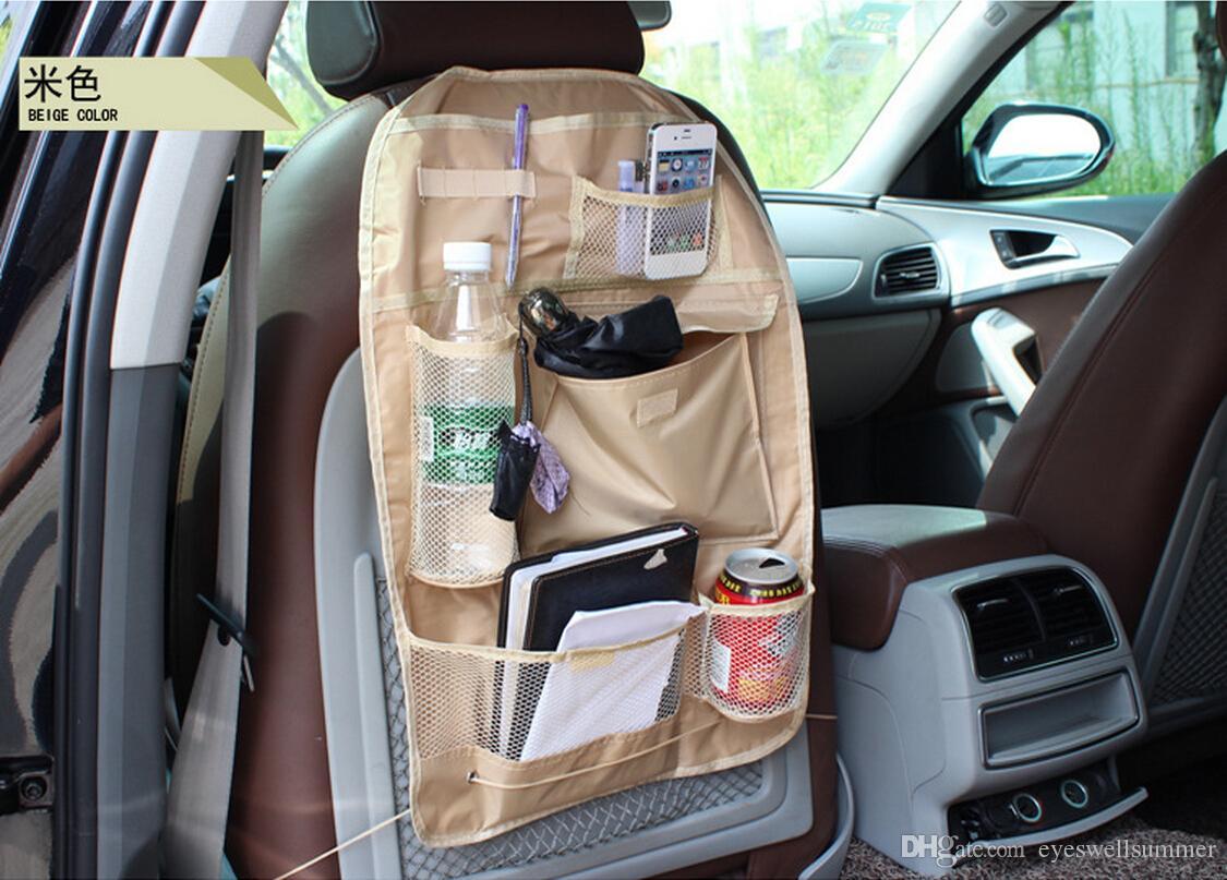 3 kolory Wodoodporna samochodowa / Auto Multi-Pocket Back Siedzenia Kieszeniowa torba organizatora