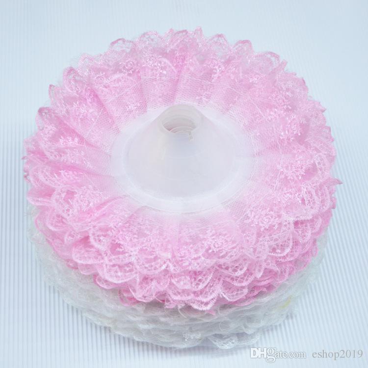 20pcs / lot 더블 레이스 purfle 결혼식 신부 꽃다발 홀더 thalamous 파티 장식 꽃 리셉터클 토러스 wa126