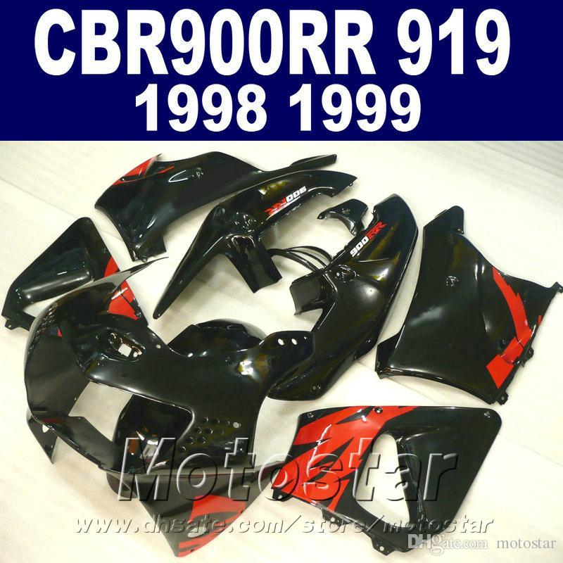 Bodywork set for Honda CBR900 RR fairings 1998 1999 CBR900RR red black plastic fairing kit CBR919 98 99 QD15