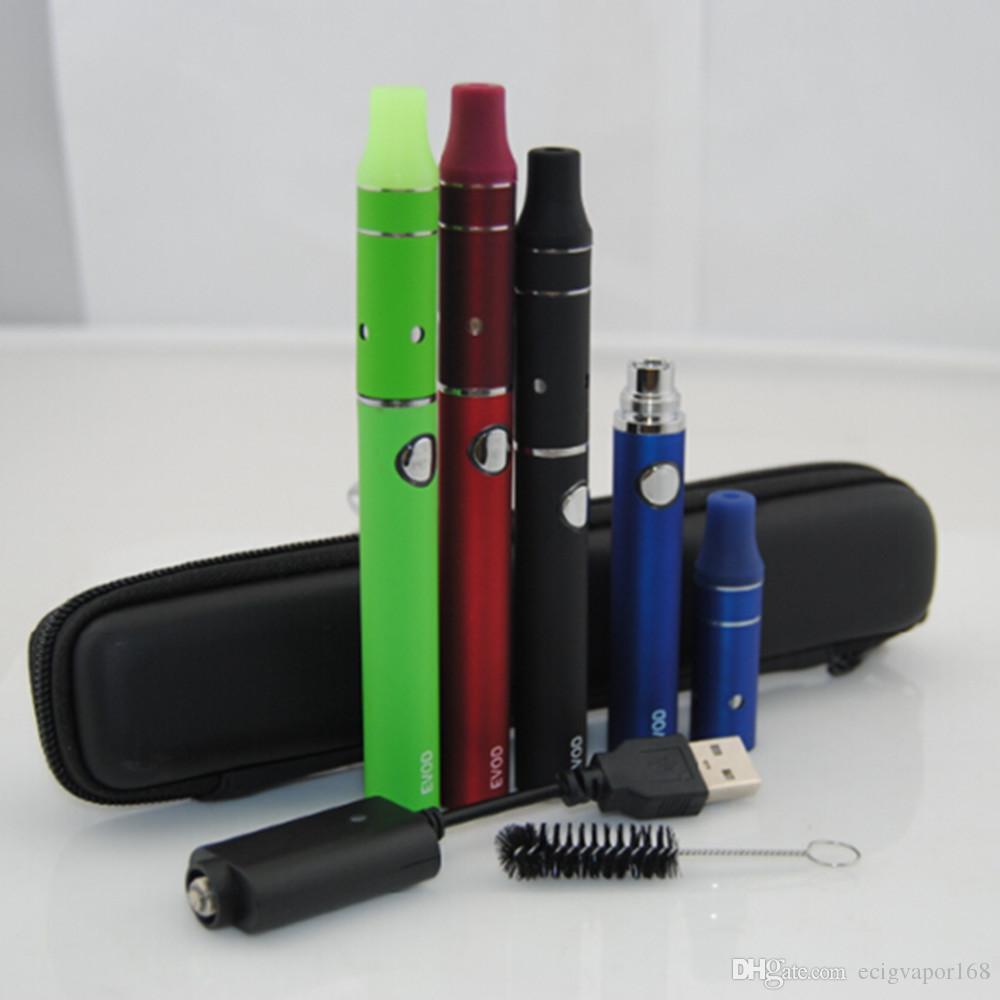 Ecigarette eGo Evod Mini Vor g5 Vaporizer Vaporizer Starter Kits E Zigaretten evod Batterie Ecigs Trockenkraut Zerstäuber Tanks Zippper Case Kit
