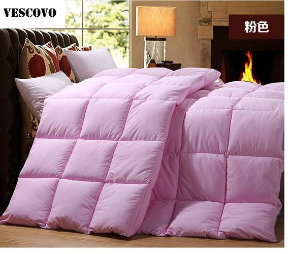 shell thread treated down comforter globon goose nano texcote fill size power cotton count oz washable king winter white