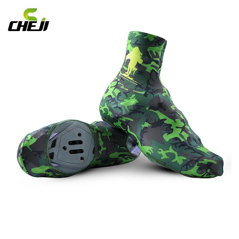 Wholesale Cheji New Bike Bicycle Shoe Covers Windproof Spring Summer Cycling Shoes Cover MTB Bike Overshoes Cycling Zippered