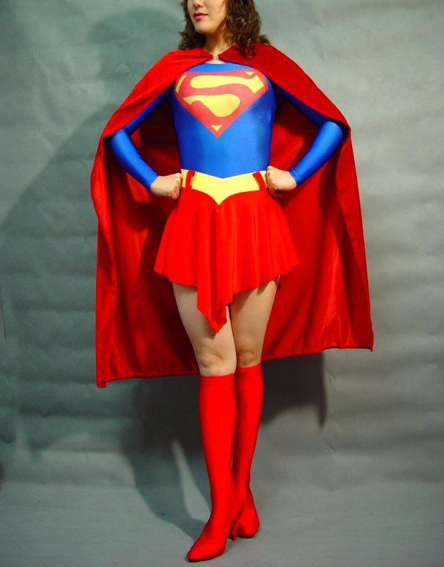 Superman Superwoman Costume Adult Cosplay Party Dress Marvel Halloween Zentai