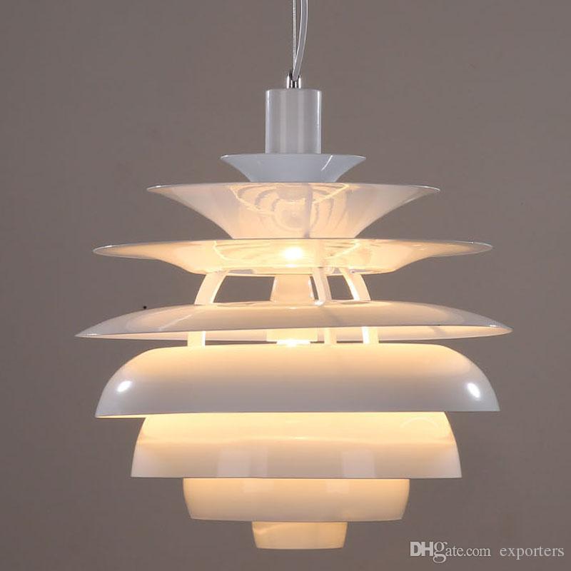 덴마크 클래식 램프 루이 Poulsen PH 눈싸움 LED 펜 던 트 램프 Droplight 빛 샹들리에 조명 실내 조명
