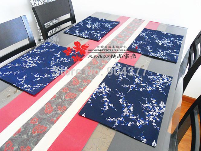 Última Llegada Precioso Damasco Banquete Mantel Impreso Decorativo Boutique Esteras de Mesa opción multicolor L38xW28cm 1 unids Gratis