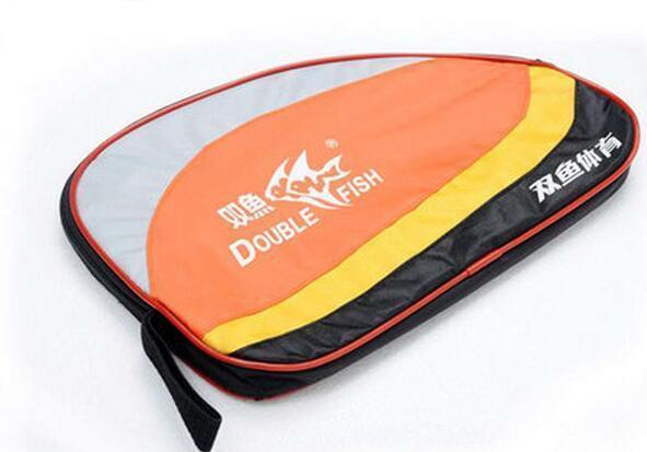 Square round shape Double fish box ping pong cover table tennis racket
