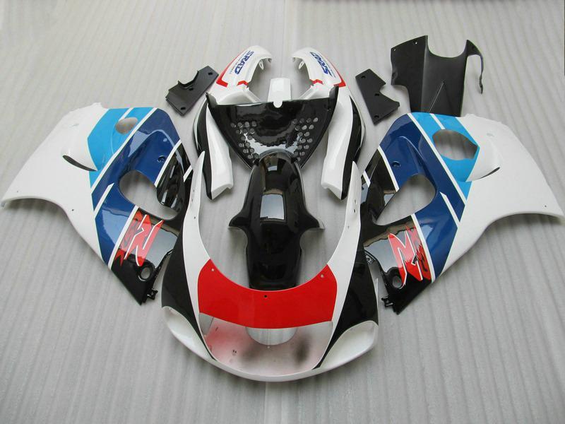 Kit carénage haut de gamme pour SUZUKI GSXR600 GSXR750 1996-2000 GSX-R600 / 750 96 97 98 99 00 Kit carénage noir rouge bleu GB17