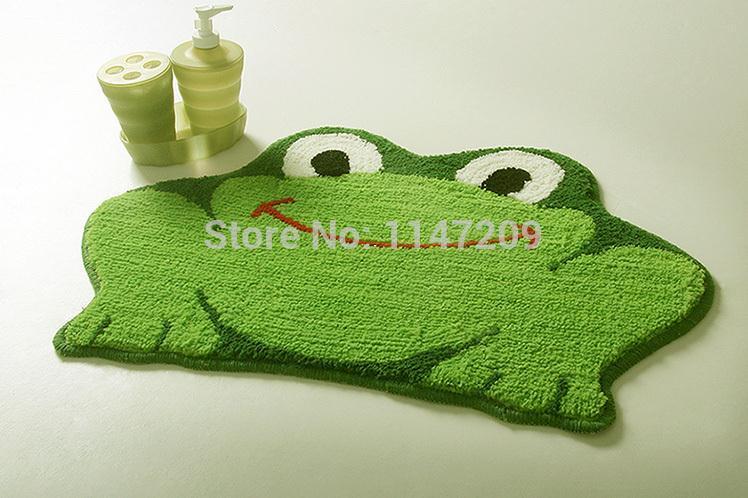 Tamehome 2015 Cartoon Frog style anti-slip door bathroom mats doormat liveing room blanket cushion floor rug home bed carpet