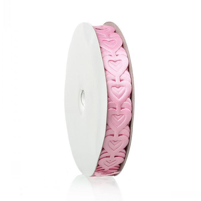 Beijia terylene satyna baby shower dekoracja wstążka różowy miłość serca dziewczynka 18.0mm, 1 rolka (około 18,4 m)