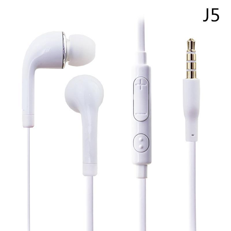 Płaskie Kolorowe Słuchawki Douszne Słuchawki 3.5mm z regulacją głośności i MIC Słuchawki Earbuds do Samsung Galaxy S4 S5 I9600 Uwaga 2 Uwaga 3 N9000