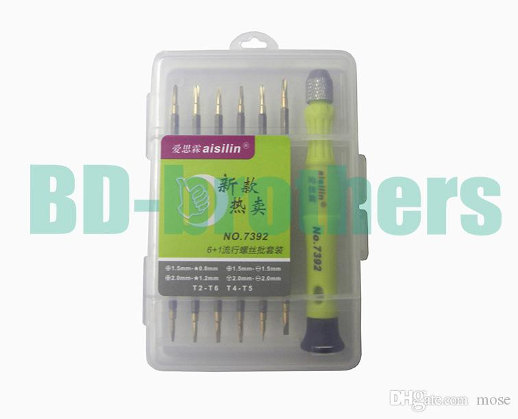 12 in 1 Kit T2 T4 T5 T6, 0.8 1.2Pentalobe, 1.5 2.0 Phillips 1.5 2.0Slotted Y Screwdriver for Tablet PC Laptop Cell Phone Repair 20sets/lot.